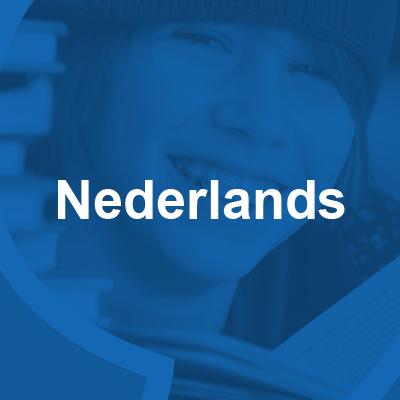 vak Nederlands 400x400 blauw met beeld